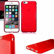 Apple Iphone 6s Estuche Original De Alto Brillo Rojo flexible cubierta de gel resistente al impacto