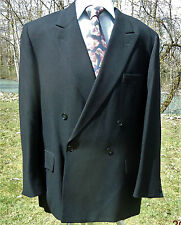 PEEK & CLOPPENBURG BLAZER 46 USA DOUBLE BREASTED BLACK WOOL AUSTRIA REINE WOOLE