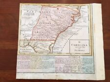 RARE 1740 Map of CAROLINA, GEORGIA & FLORIDA, Homann Heirs, Iroquois, Chesapeake