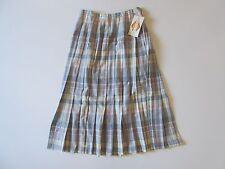 NWT Vintage Pendleton Pink Tartan Plaid Wool Pleated Mid Calf Skirt 14 Modern 6