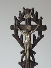 Vecchio crocifisso in legno scolpito French WOOD CARVED crucifix cross circa 1900