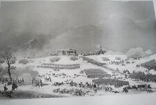 NAPOLEON COMBAT D'EYLAU ATTAQUE CIMETIERE GRAVURE 1838 VERSAILLES R1120 IN FOLIO