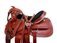 COWGIRL WESTERN BARREL RACING LEATHER SADDLE 15 16 17 PLEASURE HORSE TACK SET