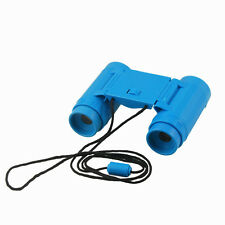 Child Kids Plastic 26mm x 2.5X Foldable Binoculars Telescope Toy Blue BT