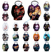 Unisex Anime Hoodies Demon Slayer Kimetsu no Yaiba 3D Hoodie Pullover Sweatshirt
