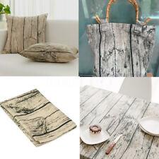 150cm Coupons Tissu Lin Coton Grain de Bois Couture Scrapbooking Napperon Housse