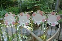 """3 Salad Plates Franciscan Desert Rose Mark With"""" Interpace Half Moon ~7-3/8"""" G 6"""