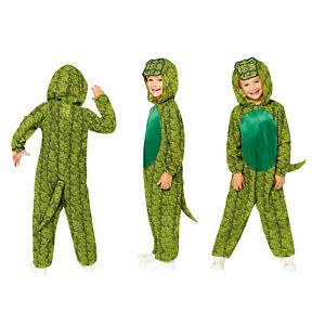 Childs Crocodile Fancy Dress Animal Costume Zoo Book Day Girls Boys Alligator