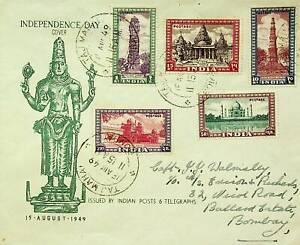 INDIA 1949 REPUBLIC DAY 5v ON TAJ MAHAL BOMBAY CANCEL FDC