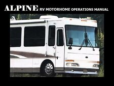 WESTERN RV ALPINE MOTORHOME MANUALS - 310pg  with Operations Service & Repair