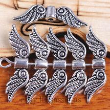 50pcs 23mm Silver End Bead angel wing style Jewelry Bracelet DIY Marking A7096