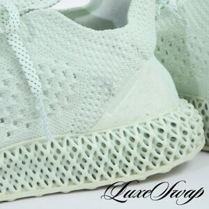 RARE Adidas Ultraboost Germany 4D Daniel Arsham BD7400 Aero Green Sneakers 11 NR