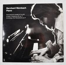 LP: Bernhard Wambach - Piano (WK 30.011) Rachmaninoff, Scriabin, Schönberg