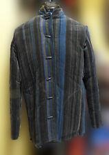 Vintage Sun N Sand  Jacket Coat Size L Multi-Color Stripes Velour