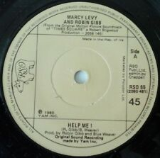 "MARCY LEVY AND ROBIN GIBB - HELP ME! 7"" IRISH VINYL SINGLE 1980s POP 1980 EX"