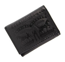 New Levi's Men's Leather Embossed Trifold Wallet