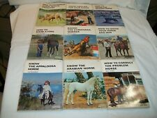Horse training book lot Equine horsemanship veterinary health problem arabian