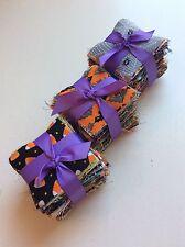 "200 Halloween  pre cut charm pack 2.5"" squares 100% cotton fabric quilt scrap"