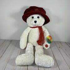 "Chantilly Lane Ashley Singing Bear 22"" Red Hat  Beatles I Will Tag Along Tag"