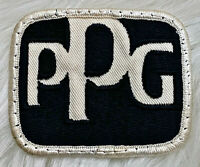 Vintage 70s PPG PAINTS Automotive Hot Rod Auto Embroidered Sew On Patch RARE