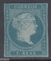 ISABEL II - * 41 - AÑO 1855 - CERTIFICADO AUTENTICIDAD - PRECIO CAT: 1.675 €UROS