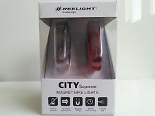 New Reelight City Supreme bike bicycle front & rear light set no batteries