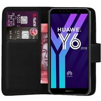 Case Cover For Huawei Y6 2018 Magnetic Flip Leather Wallet Phone Stand Luxury