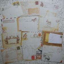 12 Mini Envelopes Printed Designs Paper Crafts Junk Journal Gift Card