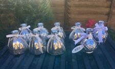 Silver Glass Votives Vases Jars X 9 Wedding