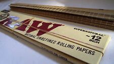 """RAW 12 INCH PAPERS cigarette+12"""" BAMBOO ROLLING MAT/ skins rizla smokers GIANT"""