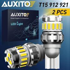 Pair 18smd Bright LED Reverse Backup Light 921 912 Bulb T15 2400LM 6500K White A