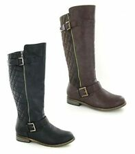 Spot on Knee High Zip Synthetic Women's Boots