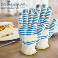 Heat Resistant Silicone BBQ Gloves Grill Mitts Cooking Home Kitchen Pot Holder
