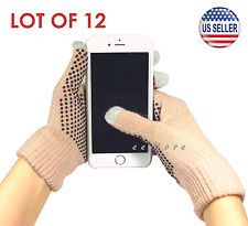 Wholesale Lot of 12 Touch Screen Gloves Smartphone Tablet Pad US Stock (CAMEL)