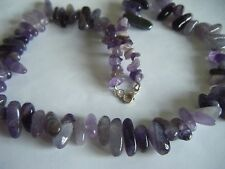 Spiritual Healing Necklace Amethyst 925 Silver Sacred Cosmic Awareness Meditate