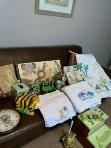 Bath Decor and Accessories.  Jungle / Monkey theme.  Includes over 20 items