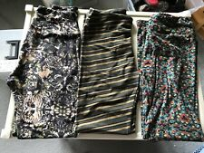 Leggings Women's LuLaRoe OS One Size Leggings Multi Colored Vertical Stripes  New