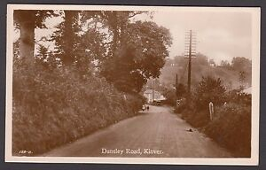 Postcard Kinver Staffordshire view of Dunsley Road and Vine Inn RP by Mincher