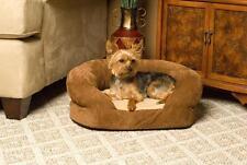 KH Mfg Brown Velvet Orthopedic Bolster Sleeper Dog Cat Pet Bed Medium