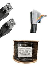 125'FT CAT5'e OUTDOOR WATERPROOF ETHERNET CABLE  Direct Burial Internet RJ45 UV
