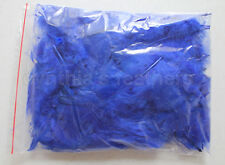 """10g (0.35Oz) Royal Blue 3~4"""" Turkey Plumage Feathers for crafting, 80~120 counts"""
