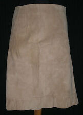 NWT Intuitions Beige Suede Unlined Pencil Side Zip Skirt Sz 8 W:30 H:36 L:22