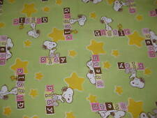 """Baby Snoopy Peanuts Giggle Dream Play Fabric - Fat Quarter 18"""" x 21"""""""