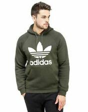 Adidas Original Men's TREFOIL KHAKI HOODIE and Crew Neck Sweat Shirt Jumper