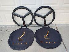 Nimble carbon fiber tri-spoke tubular wheelset