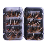 20 Assorted Trout Flies Fishing Fly DRY Wet HOOK 20PCS Free Boxed Set L20-12