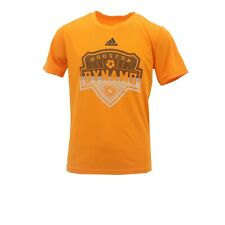 Houston Dynamo Official MLS Adidas Kids Youth Size Athletic T-Shirt New Tags