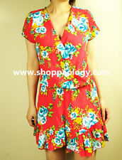 NWT Women Travel Fashion Style Red Floral Ruffle Summer Jumpsuit/ Romper S/M/L