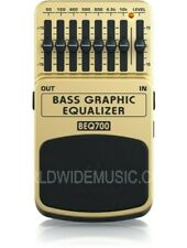 Behringer BEQ700 Bass 7 Band Graphic Equalizer Guitar Effects Pedal / Stomp Box