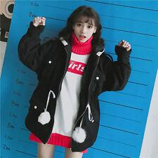 Winter Japanese Sweet Mori Girl Preppy Style Loose WOOL COATS Hooded Jacket Coat